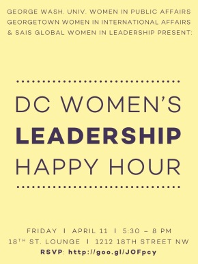 Mix and Mingle at the DC Women's Leadership Happy Hour