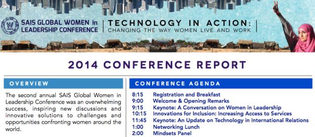 SAIS GWL Conference Report 2014