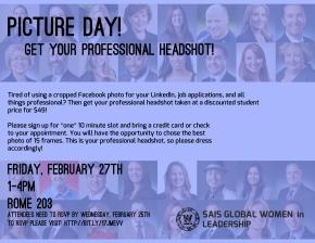 Professional Headshots: Friday, February27th