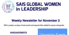 GWL Weekly Newsletter for November2
