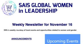 GWL Weekly Newsletter for November16